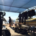 The diving equipment is waiting