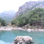 Lake inside Kemer Canyon
