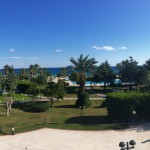 View over the park resort