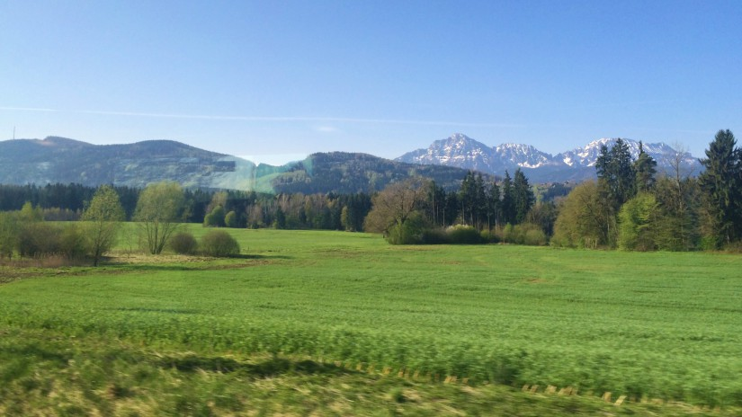 Germany from a train window